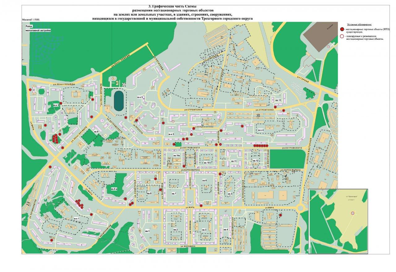 Схема нестационарных торговых объектов градостроительство
