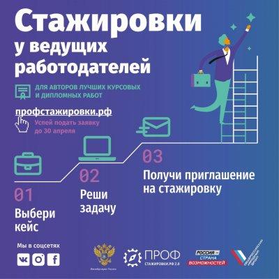 Вебинар о возможностях  конкурса «Профстажировки 2.0» состоится 8 апреля